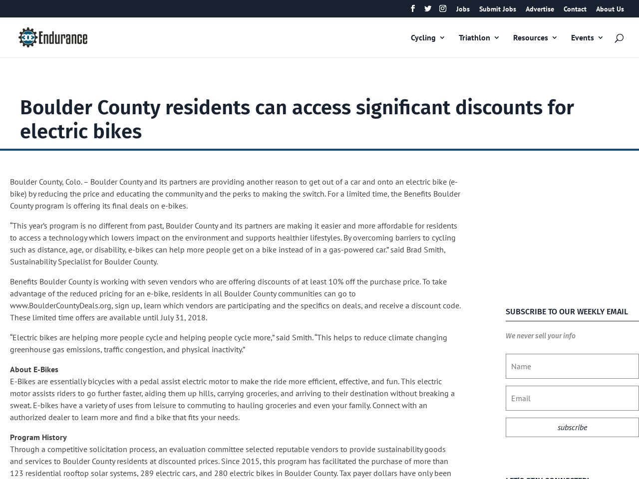 Boulder County residents can access significant discounts for electric bikes