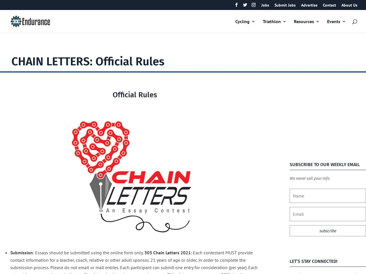 CHAIN LETTERS: Official Rules