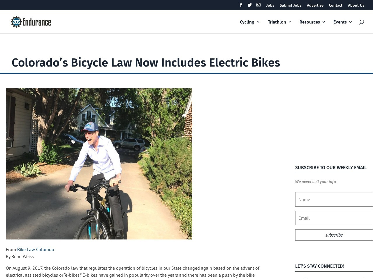 Colorado's Bicycle Law Now Includes Electric Bikes