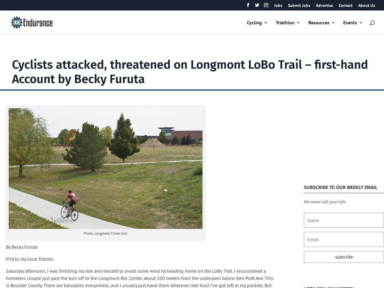 Cyclists attacked, threatened on Longmont LoBo Trail – first-hand Account by Becky Furuta