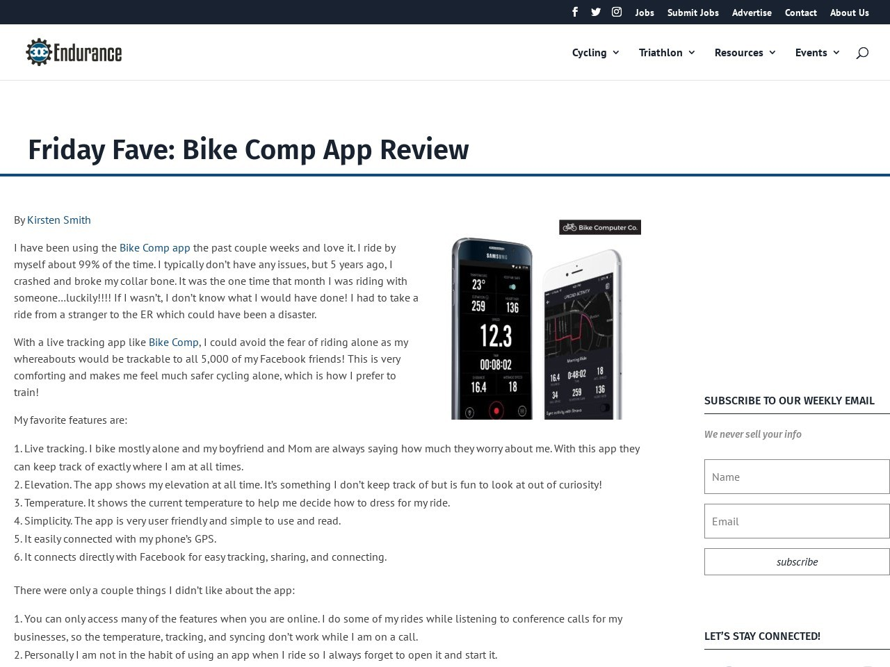Friday Fave: Bike Comp App Review