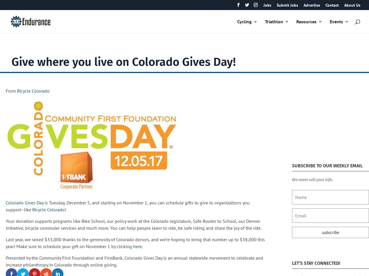 Give where you live on Colorado Gives Day!