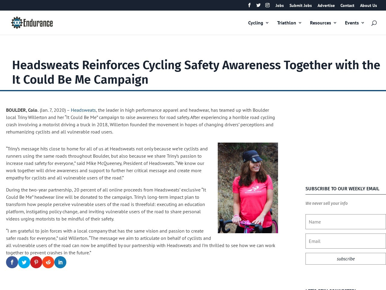 Headsweats Reinforces Cycling Safety Awareness Together with the It Could Be Me Campaign