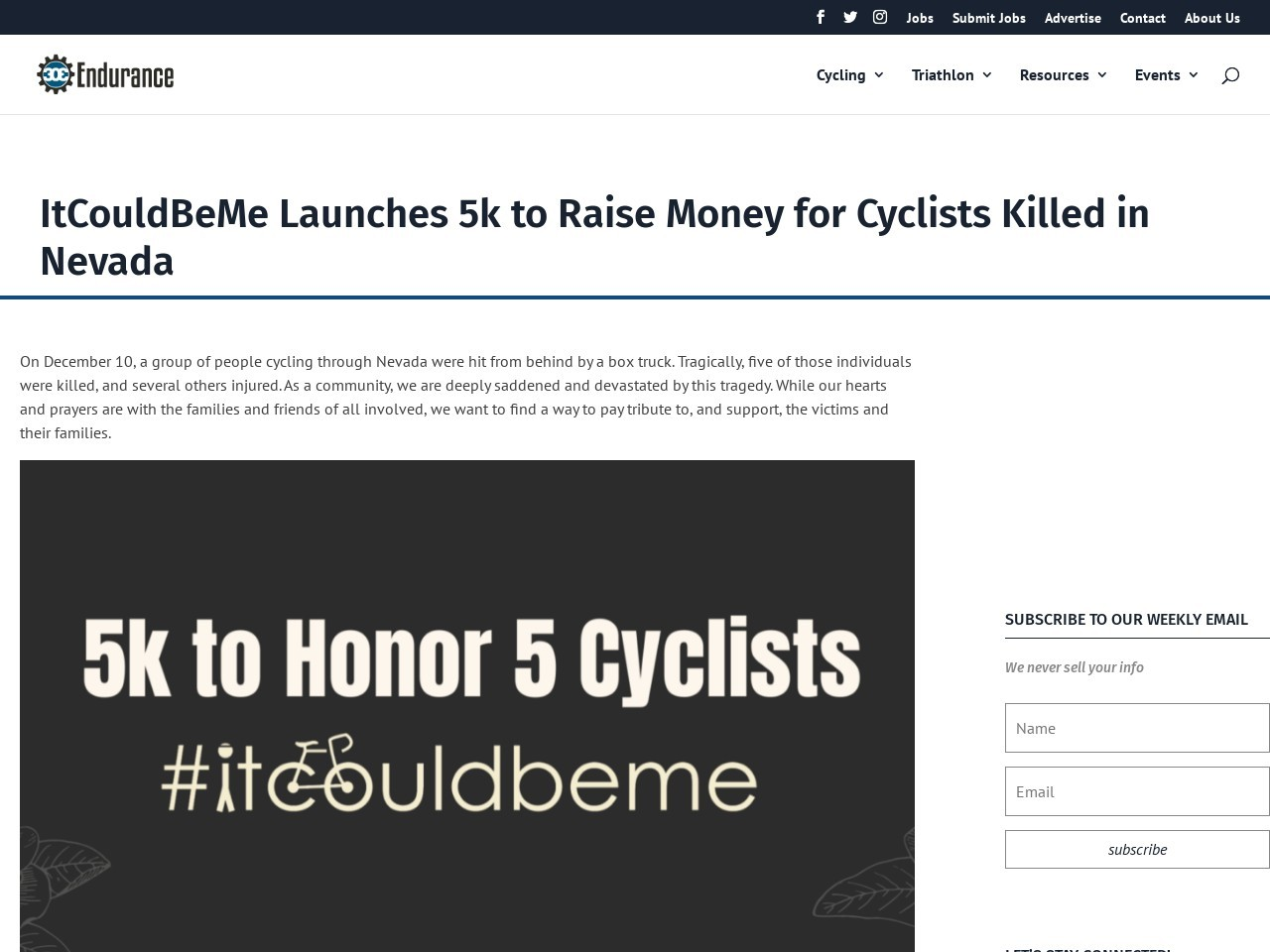 ItCouldBeMe Launches 5k to Raise Money for Cyclists Killed in Nevada