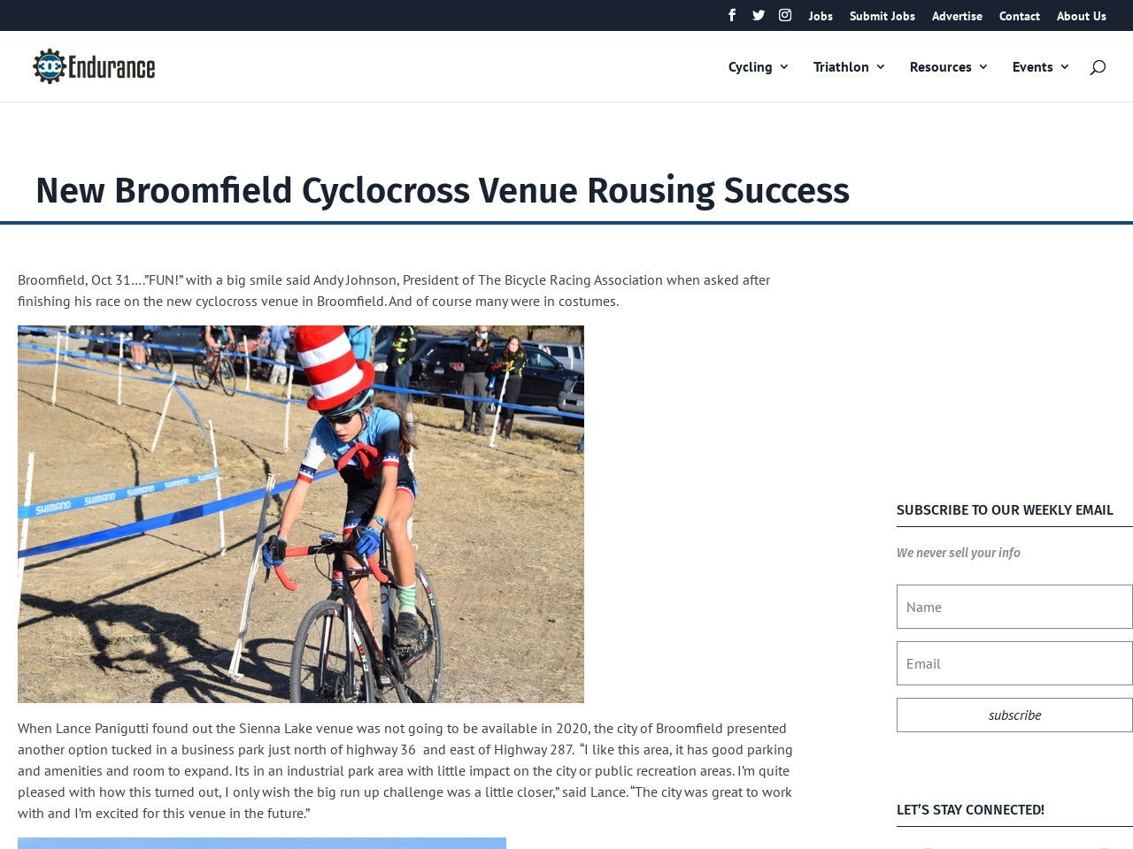 New Broomfield Cyclocross Venue Rousing Success