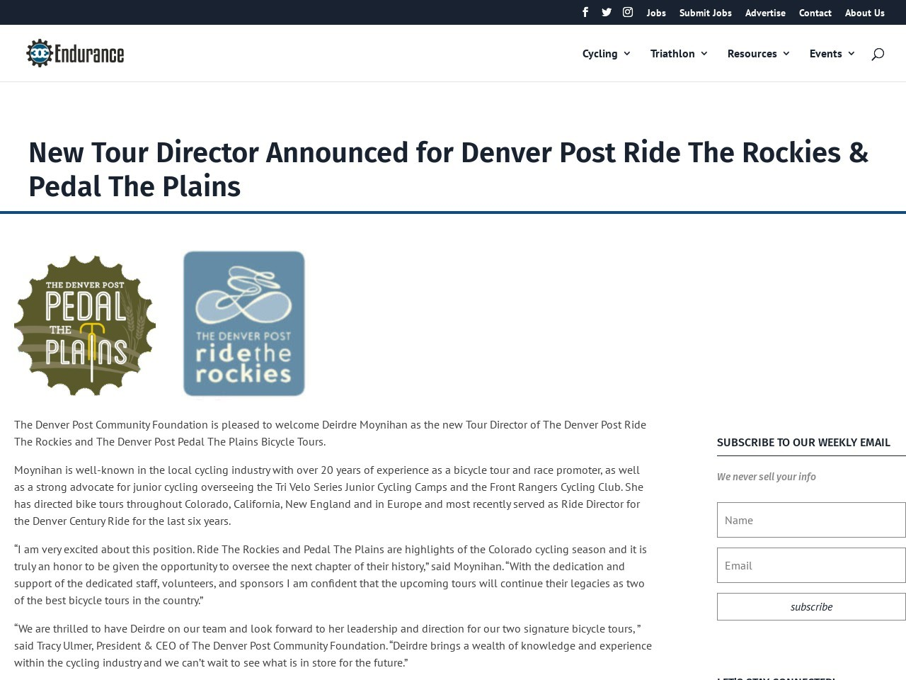 New Tour Director Announced for Denver Post Ride The Rockies & Pedal The Plains