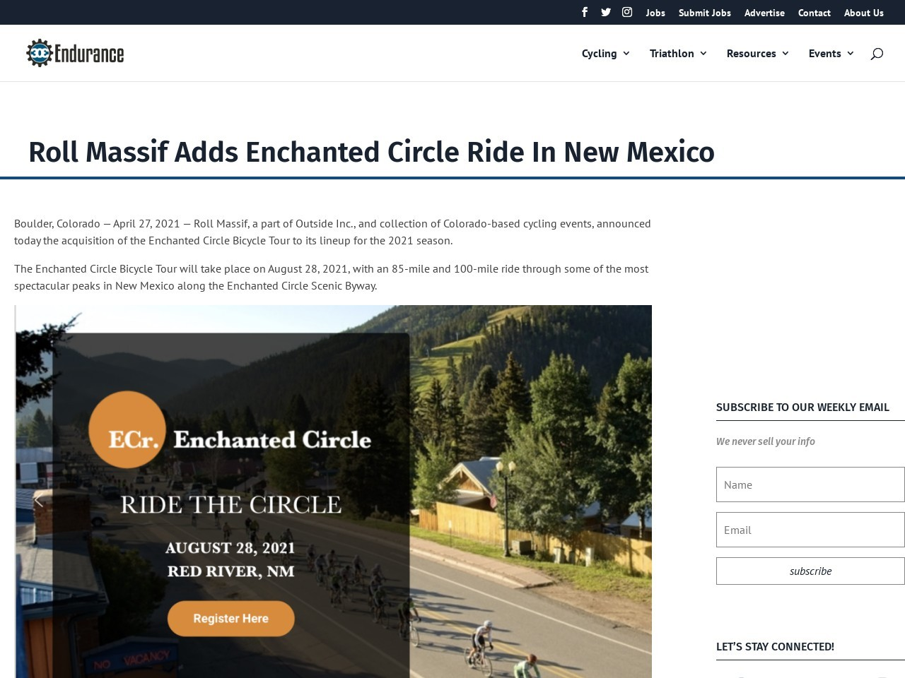 Roll Massif Adds Enchanted Circle Ride In New Mexico