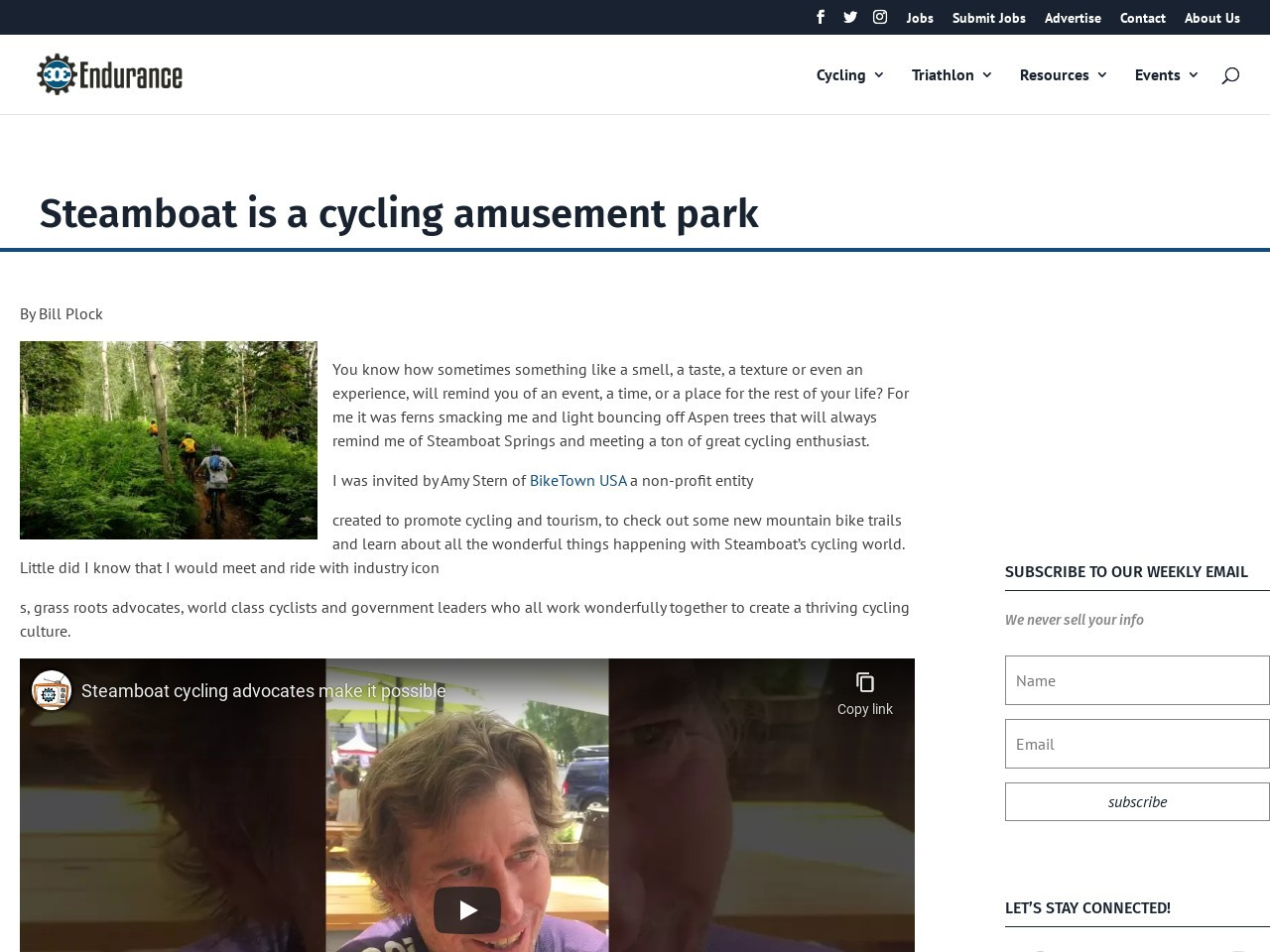 Steamboat is a cycling amusement park