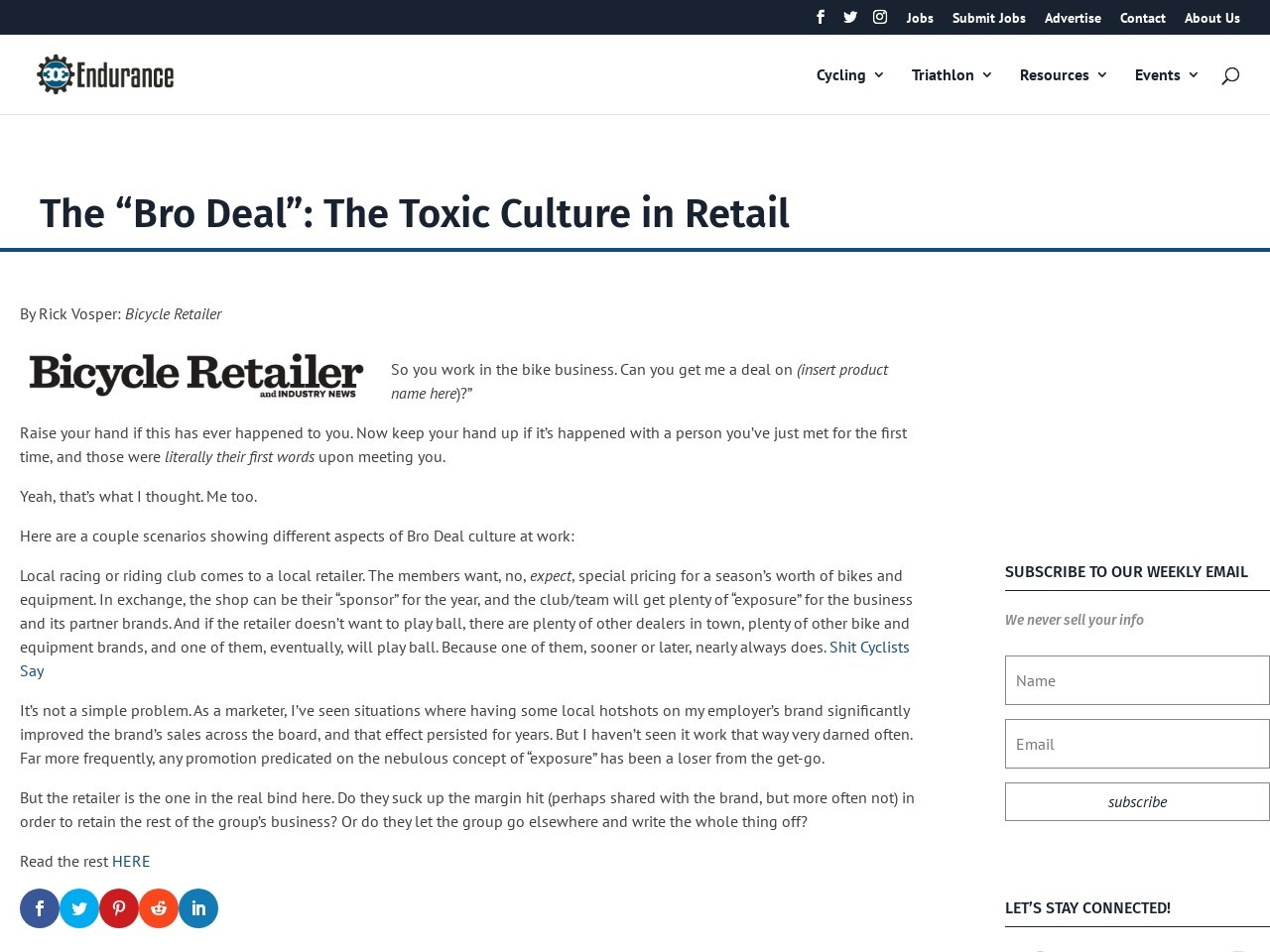 "The ""Bro Deal"": The Toxic Culture in Retail"