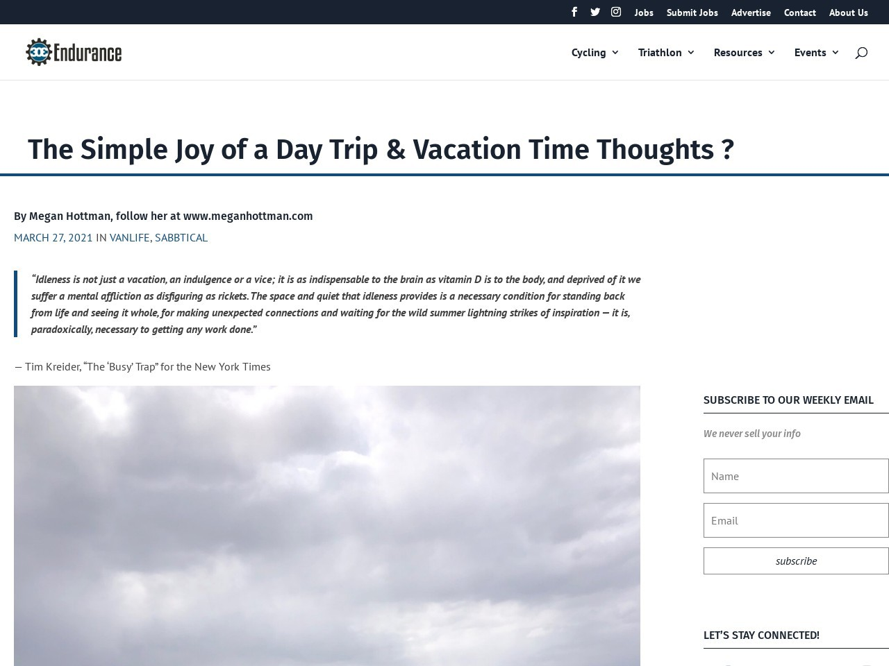 The Simple Joy of a Day Trip & Vacation Time Thoughts 💭