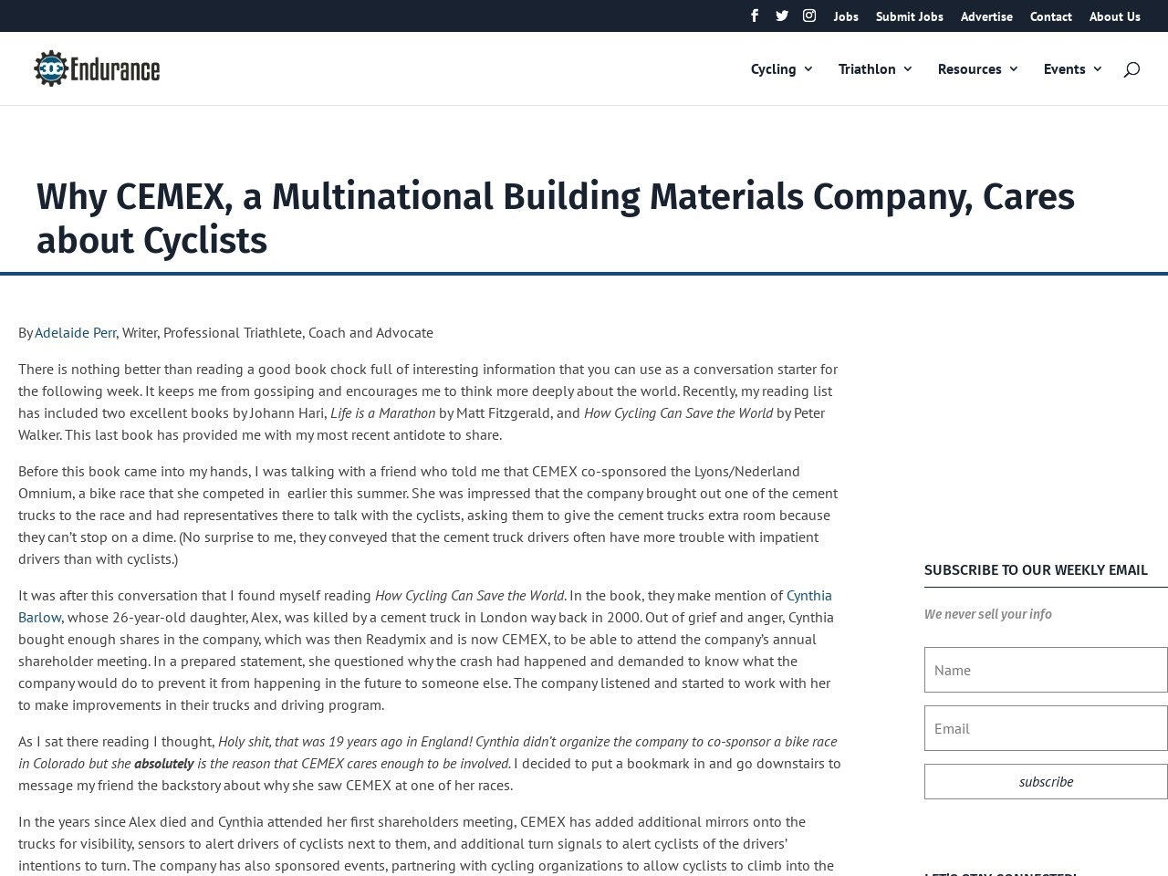 Why CEMEX, a Multinational Building Materials Company, Cares about Cyclists