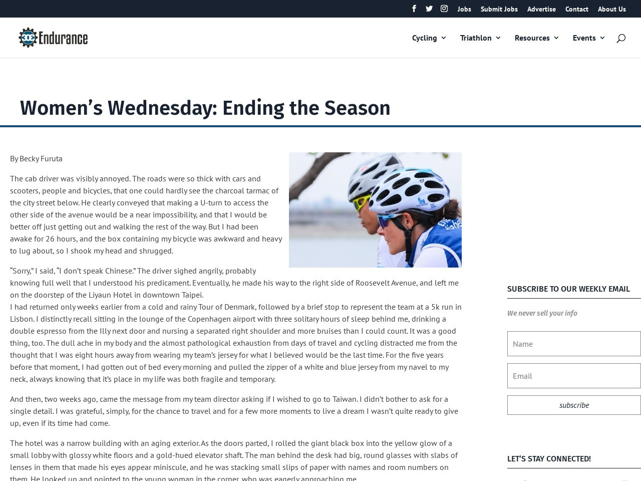 Women's Wednesday: Ending the Season