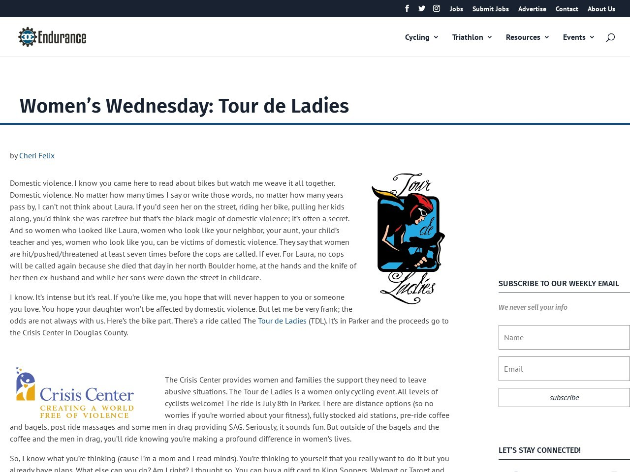 Women's Wednesday: Tour de Ladies