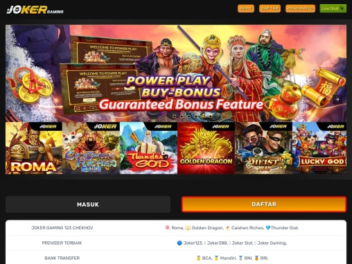 Joker123: Situs Judi Slot Online & Joker388 Resmi Indonesia