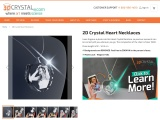 2D Crystal Heart Necklaces | 3d crystals from photos