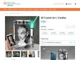 3D Crystal Urn / Candles | 3DCrystal