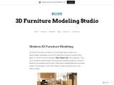 Modern 3D Furniture Modeling – Blueribbon 3D