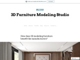 How does 3D modeling furniture benefit the manufacturers?