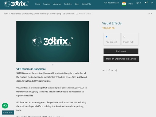 vfx studios in bangalore | vfx studios in india | vfx companies in india
