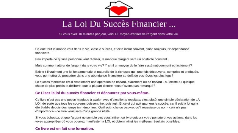 la loi du succes financier