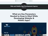 key parameters of developing website and mobile app