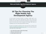 10 tips for choosing the right mobile app development agency