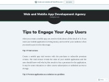 tips to engage your mobile app users