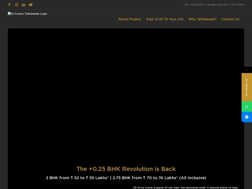 2 & 2.75 BHK Homes in Tathawade, Pune | 41 Cosmo