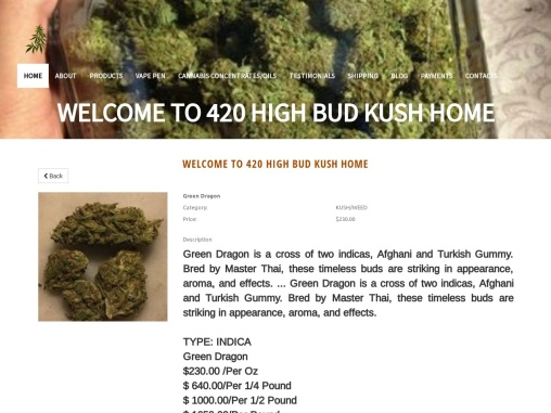 Buy Green Dragon Kush Online- Online plan pharma