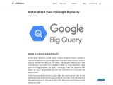 Materialized View In Google BigQuery | 47Billion