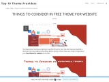 Things to Consider in free theme for website