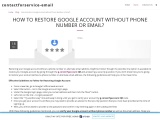 How to Restore Google Account without Phone Number or Email?