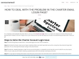 How to Deal with the Problem in the Charter Email Login Page?