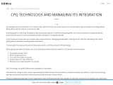 CPQ Technology and Managing its Integration
