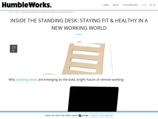 INSIDE THE STANDING DESK: STAYING FIT & HEALTHY IN A NEW WORKING WORLD