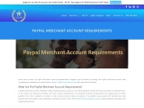 Full details of PayPal Merchant Account Requirements