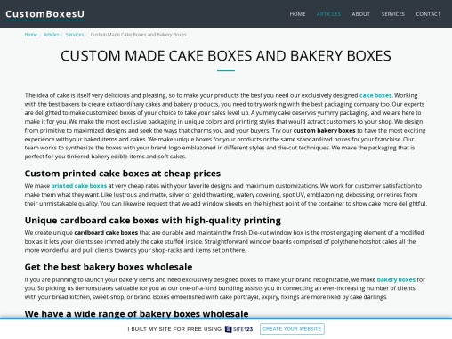 Custom cake boxes wholesale quality material in Texas, USA