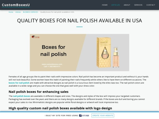 Make Your Own Nail polish boxes With printed logo in USA