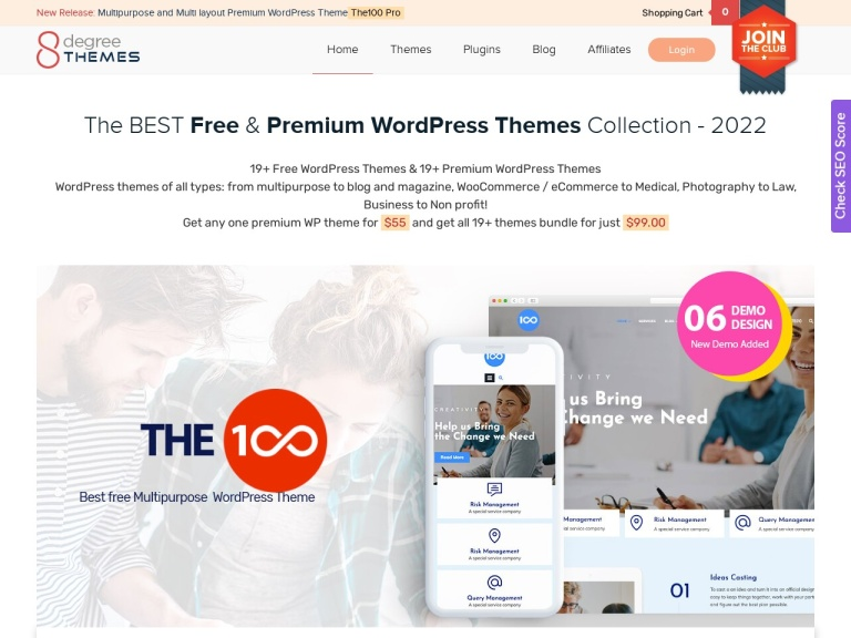 8 Degree Themes Discount | Get Excellent Coupon in 2020 screenshot
