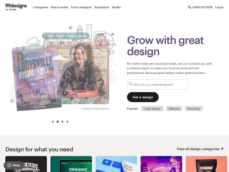 99designs Coupon Codes screenshot