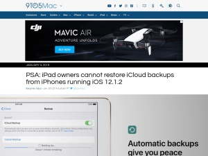 PSA: iPad owners cannot restore iCloud backups from iPhones running iOS 12.1.2 - 9to5Mac