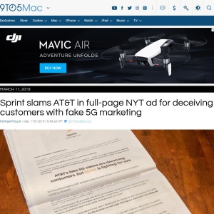 Sprint slams AT&T in full-page NYT ad for deceiving customers with fake 5G marketing - 9to5Mac