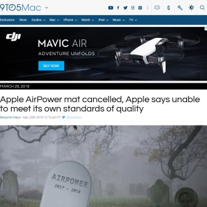Apple AirPower is cancelled, Apple says unable to meet its own standards of quality - 9to5Mac