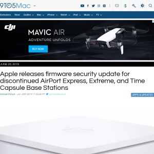 Apple releases firmware security update for discontinued AirPort Express, Extreme, and Time Capsule Base Stations - 9to5Mac