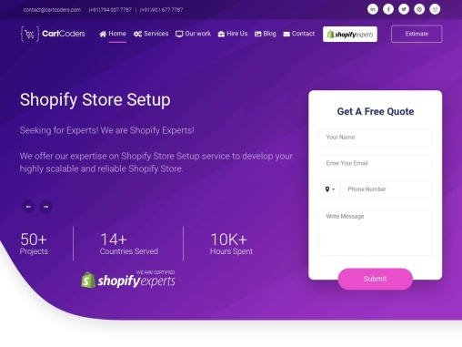 Shopify Development Services|Shopify Experts – CartCoders