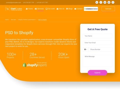 PSD to Shopify Theme Conversion Service Provider