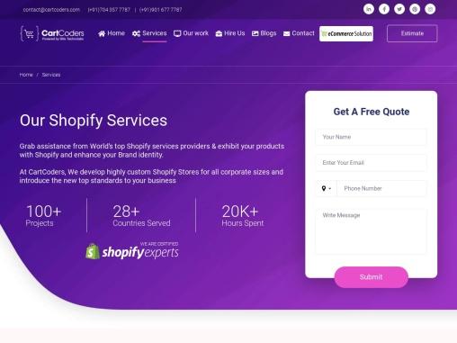 Shopify Service Provider – Shopify Development Company – SEO Services