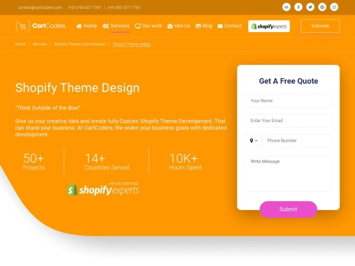 Shopify Theme Designing Service Provider – CartCoders