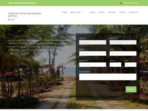 Online Booking Haritha Hotel Mahanandi (APTDC) – Asia Hotels and Resorts.