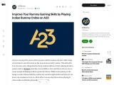 Improve Your Rummy Gaming Skills by Playing Indian Rummy Online on A23